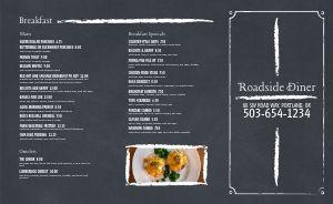 Gray Diner Takeout Menu