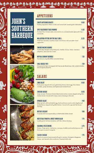 BBQ Pattern Menu
