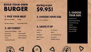 Dive Bar Burger Digital Menu Board