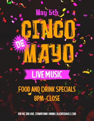 Cinco De Mayo Event Flyer