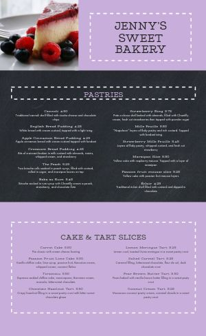 Dotted Cake Bakery Menu