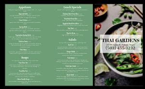 Thai Emerald Takeout Menu