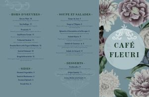 French Countryside Folded Menu