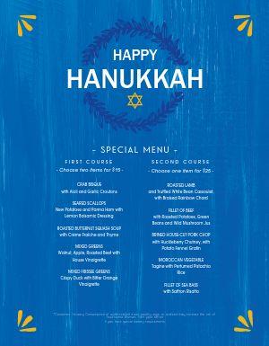 Happy Hanukkah Menu
