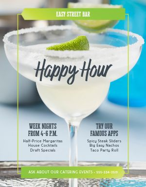 Happy Hour Margarita Flyer