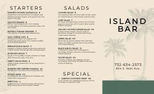 Island Bar Takeout Menu