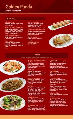 Basic Chinese Menu