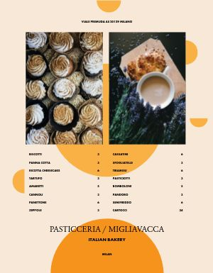 Italian Bakery Menu