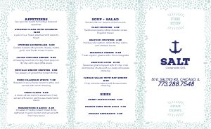 Seafood Takeout Menu Example