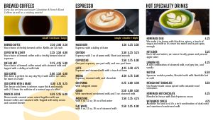 Coffee Digital Menu Board