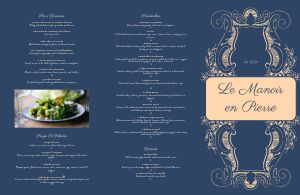 French Lounge Folded Menu