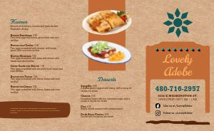 Adobe Mexican Takeout Menu