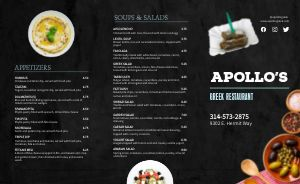 Greek Takeout Menu