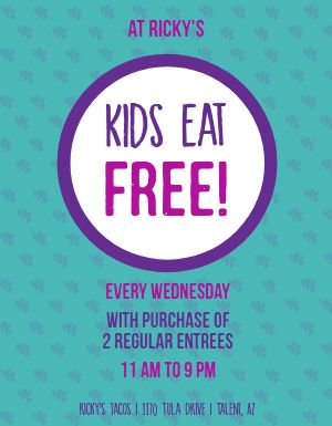 Free Kids Meal Flyer