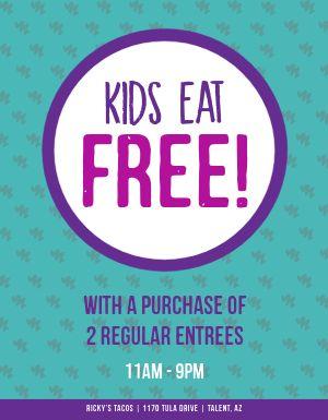 Free Kids Meal Flyer