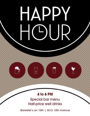 Happy Hour Food Flyer