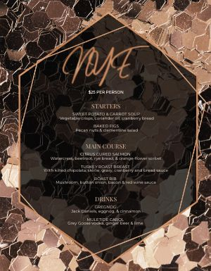 New Years Decorative Menu