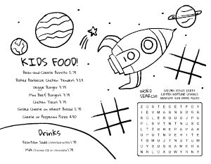 Spaceship Kids Menu
