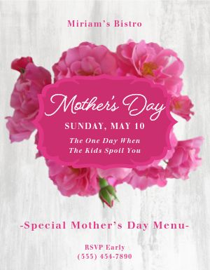 Kids Treat Mothers Day Flyer