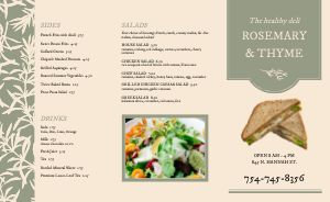 Rosemary Deli Takeout Menu