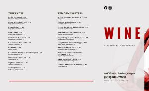 Wine List Folded Menu Idea
