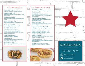 Americana Cafe Takeout Menu
