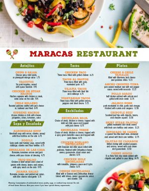 Fresh Verde Mexican Menu