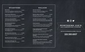 American Eatery Takeout Menu