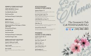 Banquet Catering Takeout Menu