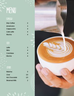 Fun Coffee Menu
