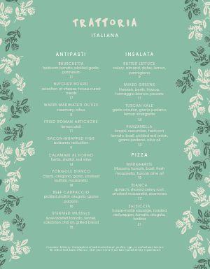 Italian Grove Menu