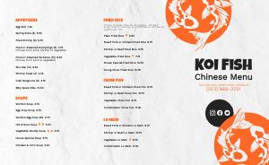 Fish Chinese Takeout Menu