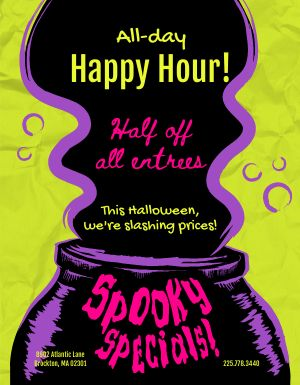 Halloween Deal Flyer
