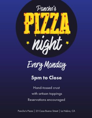 Pizza Night Flyer