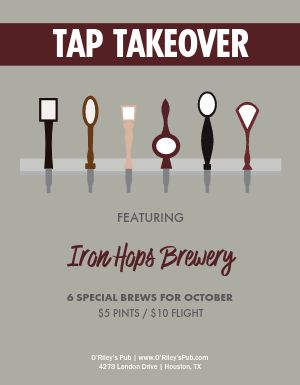 Bar Tap Takeover Flyer