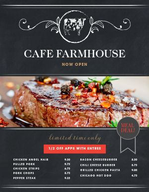 Farmhouse Family Menu