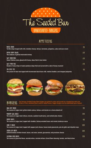 Burger Menu Idea