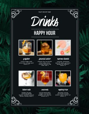 Happy Hour Drinks Menu