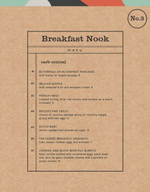 Striking Breakfast Menu