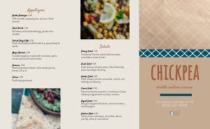 Casual Middle Eastern Takeout Menu