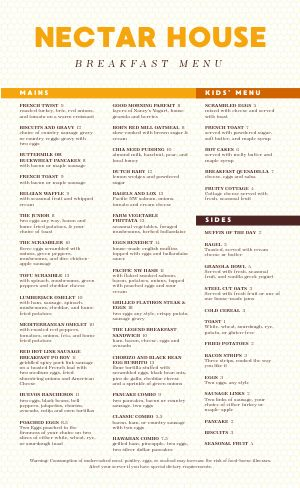 Breakfast House Full Menu