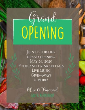 Spring Grand Opening Flyer