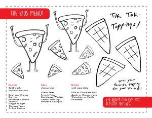 Kids Menu Inspiration