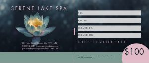 Spa Present Gift Certificate
