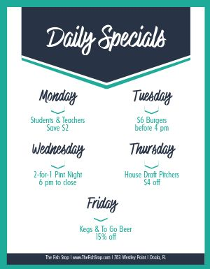 Daily Food Specials Flyer