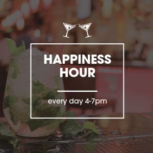 Happiness Hour Instagram Post