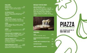 Piazza Pizza Takeout Menu