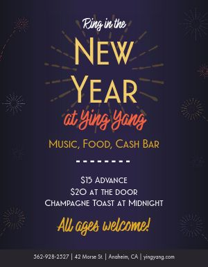 Festive New Years Flyer