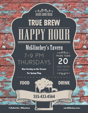 Tavern Happy Hour Flyer