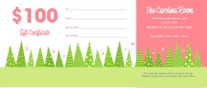 Christmas Tree Gift Certificate